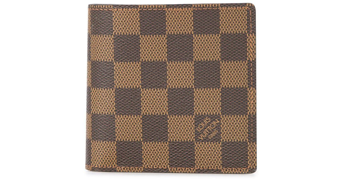 Louis Vuitton Portefeuille Marco Damier Wallet in Brown for Men - Lyst 814b2873a93