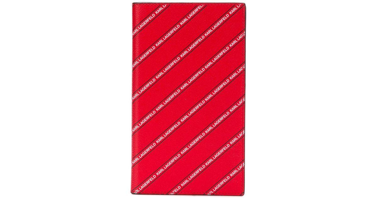 K/Stripe Logo Medium Wallet Karl Lagerfeld ee7dgLJW
