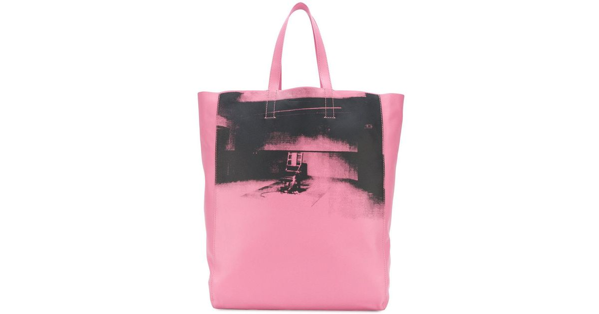63ea8f6db1 Calvin Klein 205W39Nyc X Andy Warhol Tote Bag in Pink - Lyst