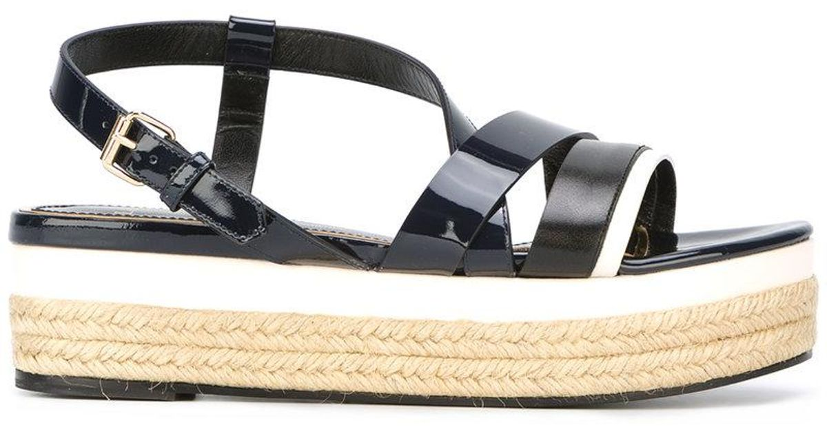 Lanvin Strap detail wedge sandals