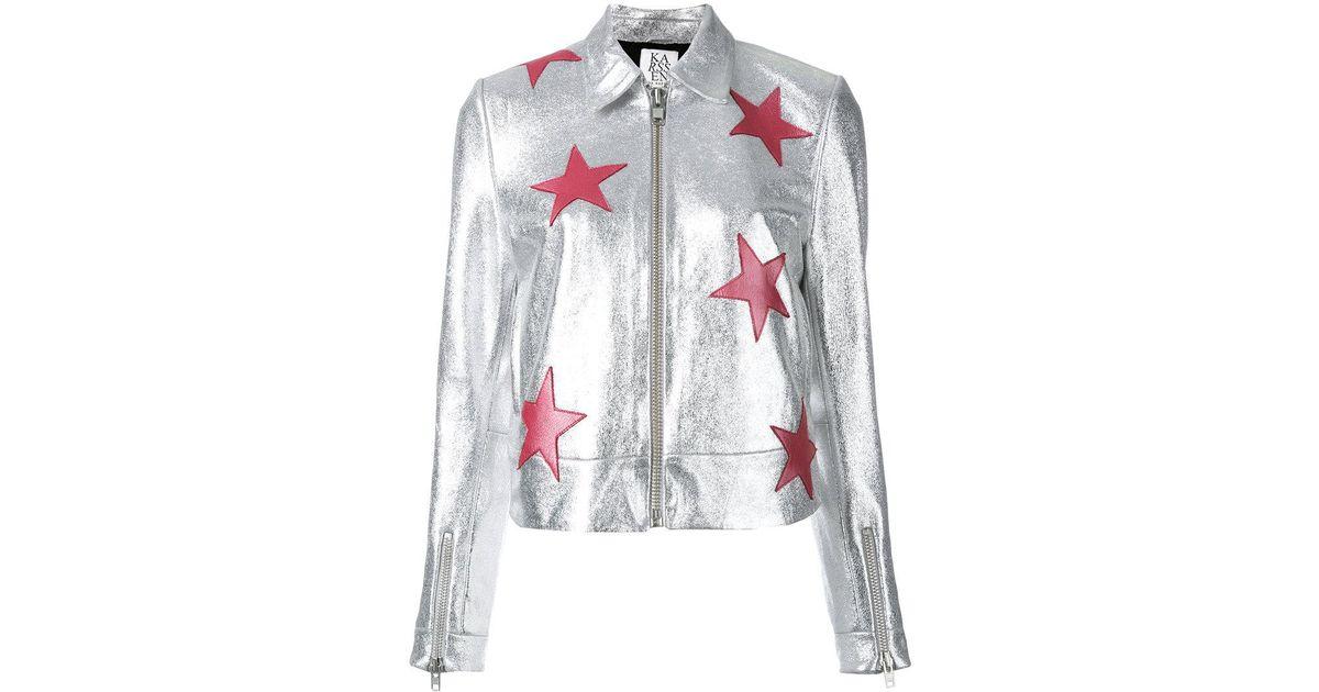 1d6b8539a Zoe Karssen Stars Metallic Jacket