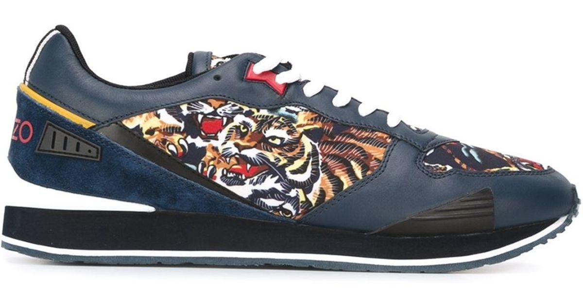 0dae604c KENZO Blue 'flying Tiger' Sneakers for men
