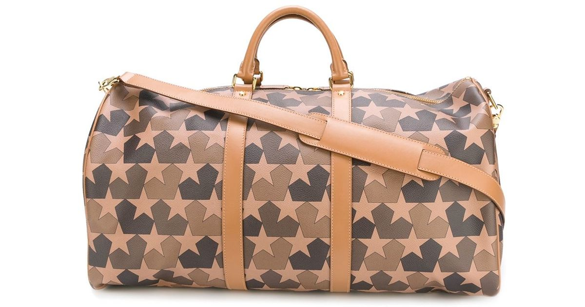 Ports 1961 Leather Star Camouflage Print Weekender In