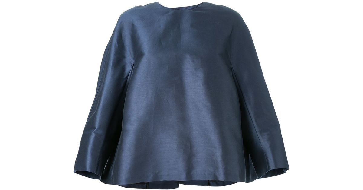 Black - Open Back 'couture' Top - Women - Silk/cotton - 40
