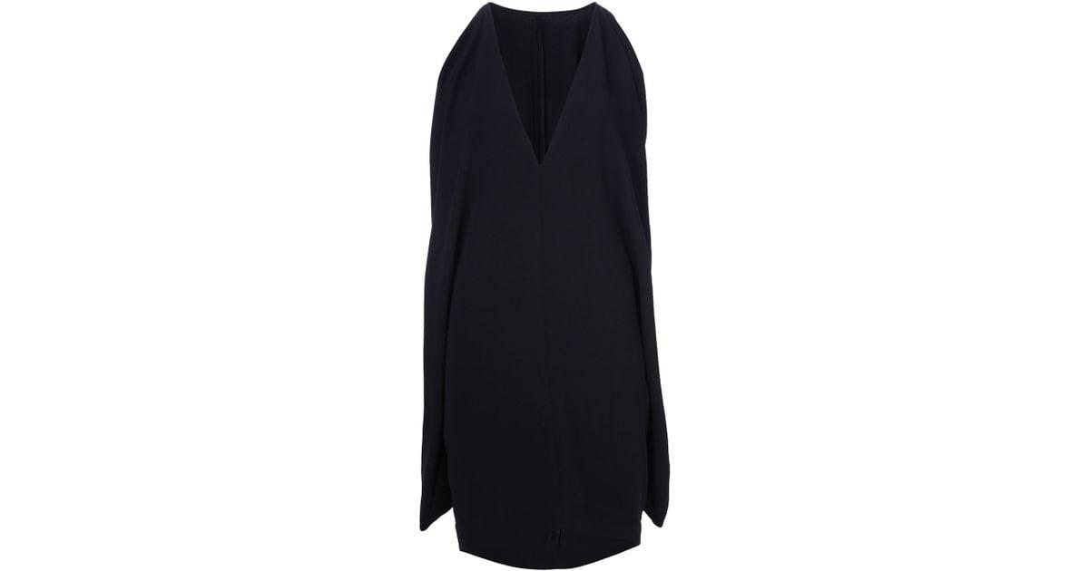 Gareth Pugh Cape Back Mini Dress In Black Lyst