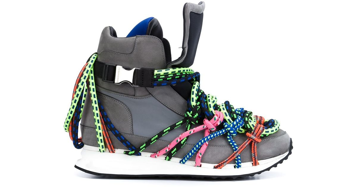 DSquared² Leather 'bungy Jump' Hi-top