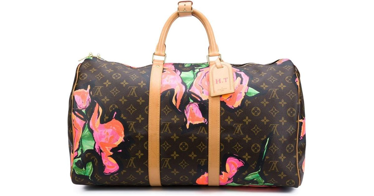 5d27d33d8b8c Lyst - Louis Vuitton Stephen Sprouse X Louis Vuitton  roses Keepall 50   Holdall in Brown