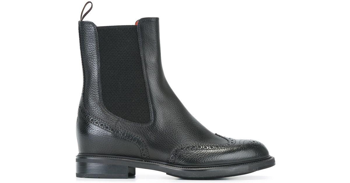 lyst santoni chelsea boots in black. Black Bedroom Furniture Sets. Home Design Ideas