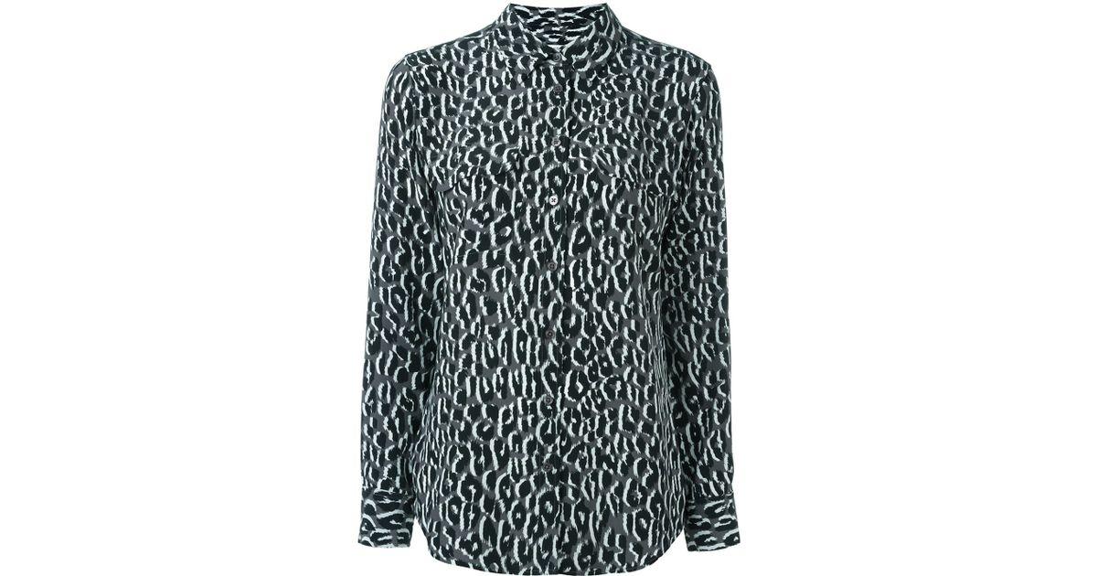 Gray Leopard Blouse 109