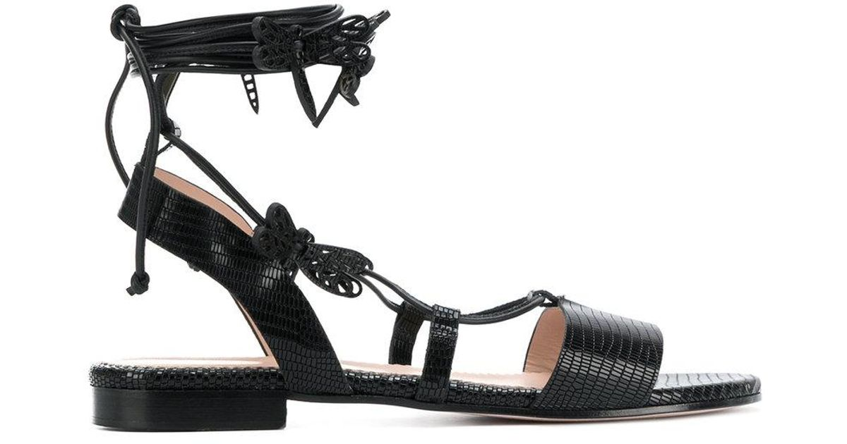 textured strappy sandals - Black Red Valentino BwSc3sh