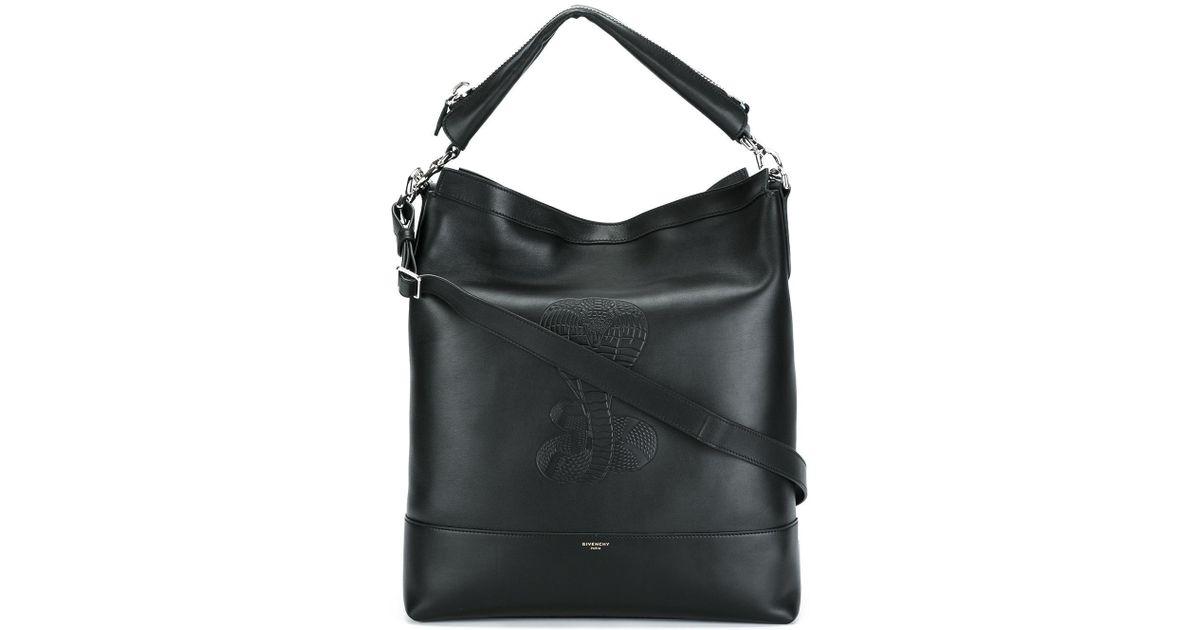 73f711c5056c Lyst - Givenchy Cobra Snake Embossed Shoulder Bag in Black for Men