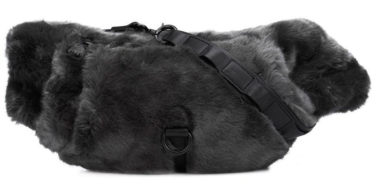 c767cf2b6f92 Lyst - PUMA Fenty X Rihanna Fur Effect Waistbag in Gray