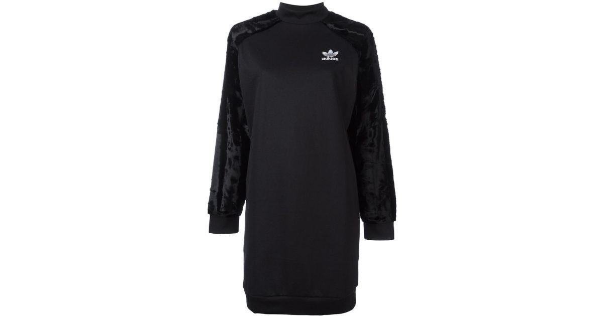 Lyst Adidas Originals Lyst camiseta de manga corta de terciopelo manga de vestido en negro 350ad3e - omkostningertil.website