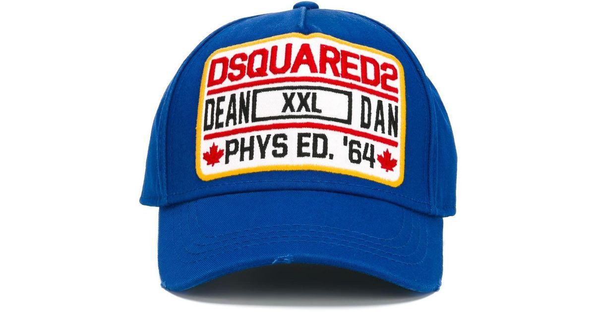 8f6d8a56c DSquared² Blue Phys Ed Baseball Cap for men