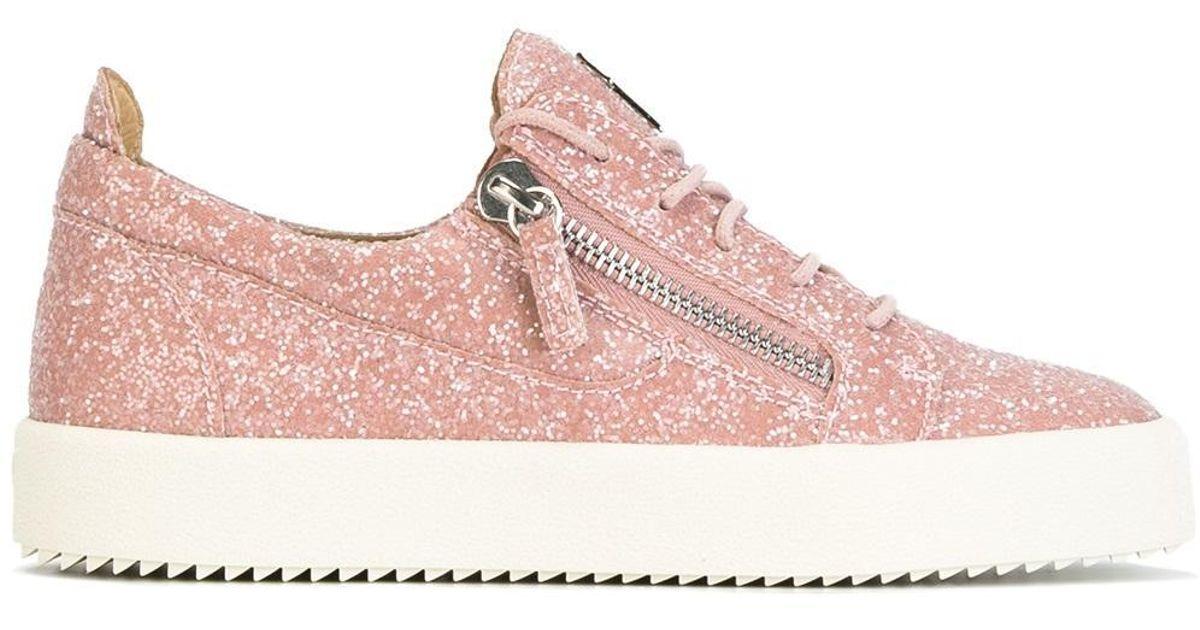 24137769961ce Giuseppe Zanotti 'cheryl' Glitter Sneakers in Pink - Lyst