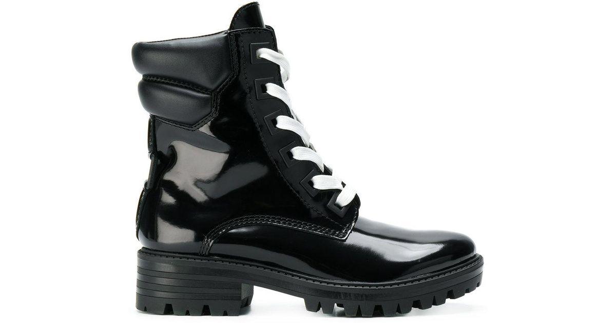 97e8f64d2dc Kendall + Kylie - Black Patent Biker Boots - Lyst