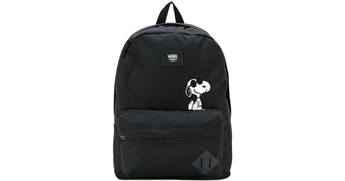 Lyst - Vans Snoopy Patch Backpack in Black for Men