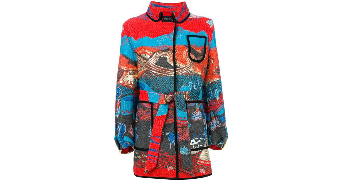 0a05567119 Giorgio Armani Metallic Cappotto Coat