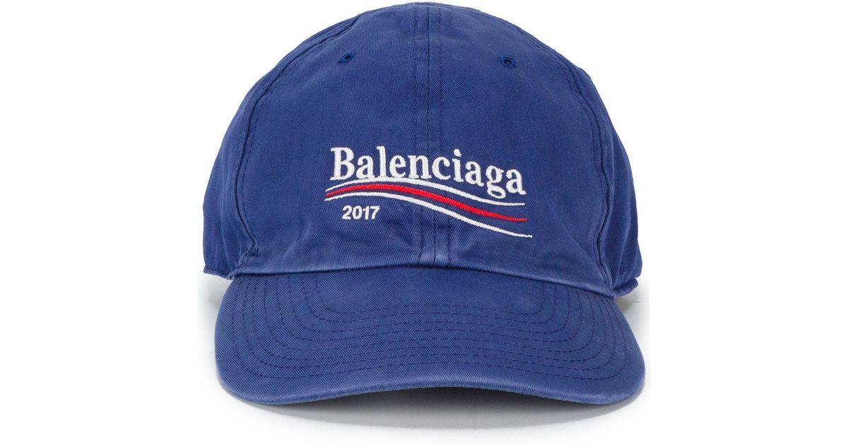 5bd98c936ed Lyst - Balenciaga 2017 Logo Cap in Blue for Men