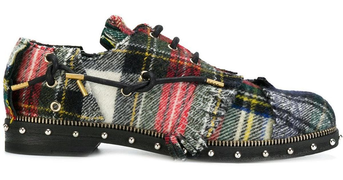 reliable Loewe tartan derby shoes outlet 2014 newest discount tumblr tjn6S2
