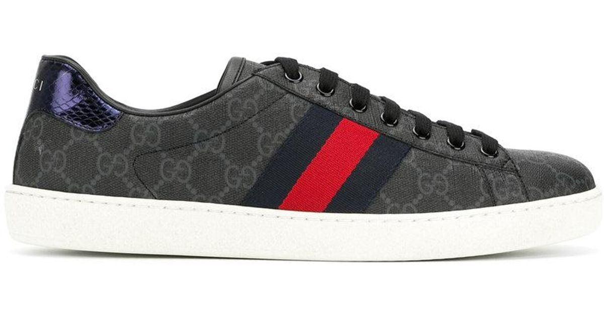 e686211fcdb Gucci Blue Ace Gg Supreme Sneakers for men