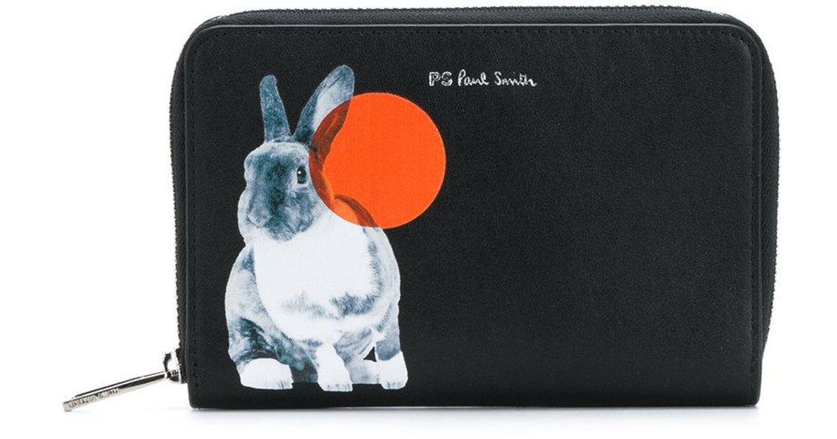 Monedero Por Negro Zip Paul Smith Rabbit Ps Around YOUpqHqw