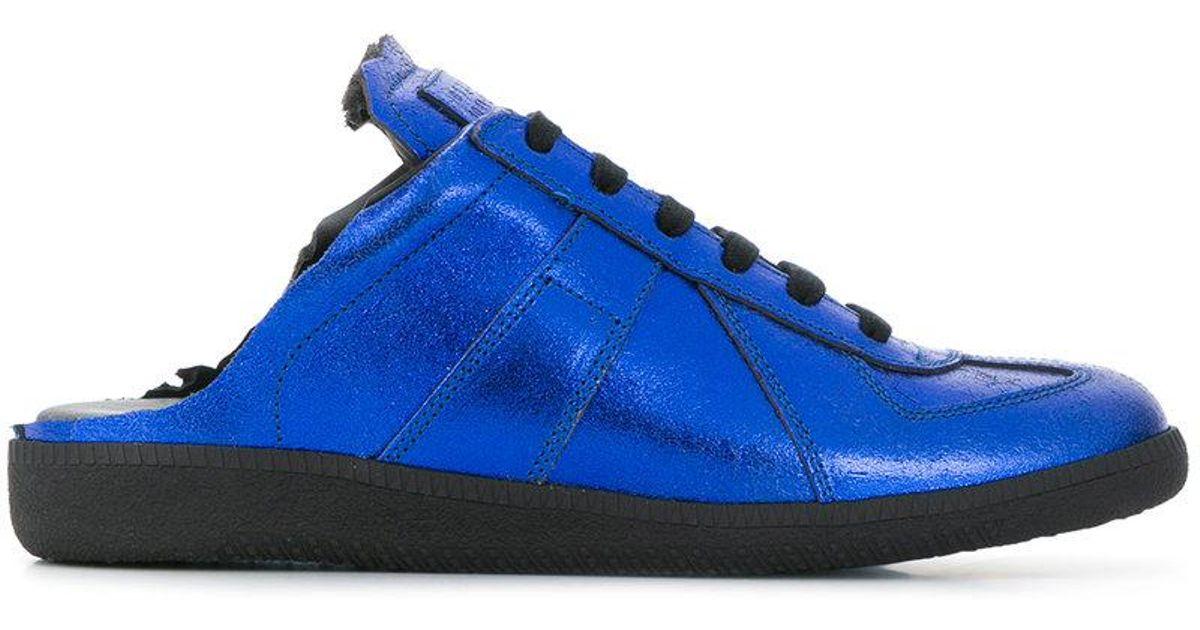 metallic mule sneakers - Blue Maison Martin Margiela Lokuuj