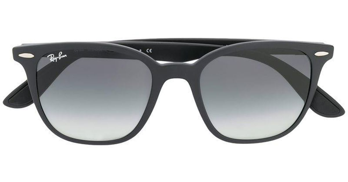 6b6316e18 Ray-Ban Square Frame Sunglasses in Black - Lyst