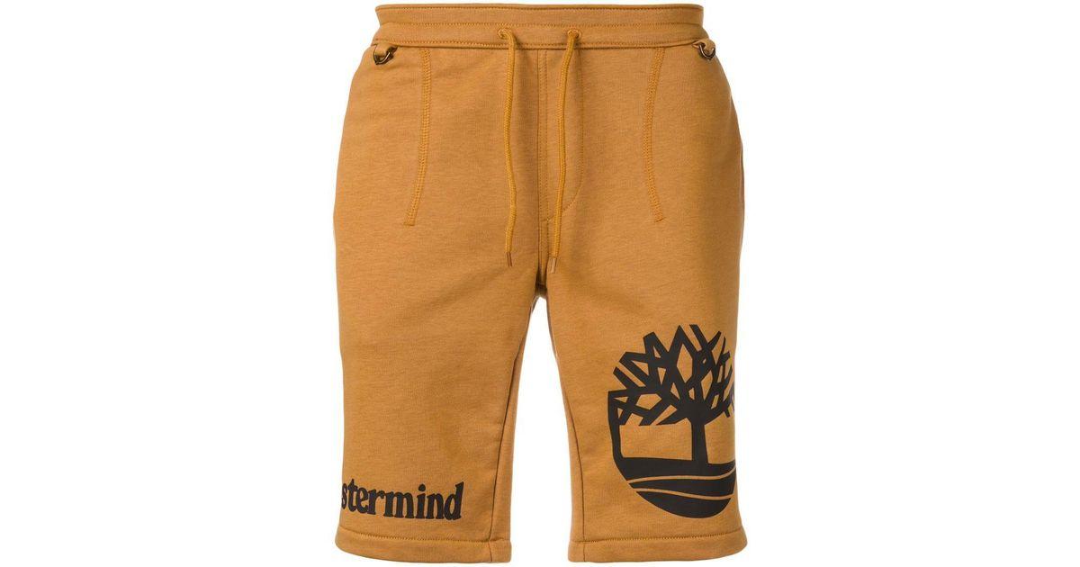Mastermind Japan Brown Timberland X Mastermind Logo Print Shorts for men