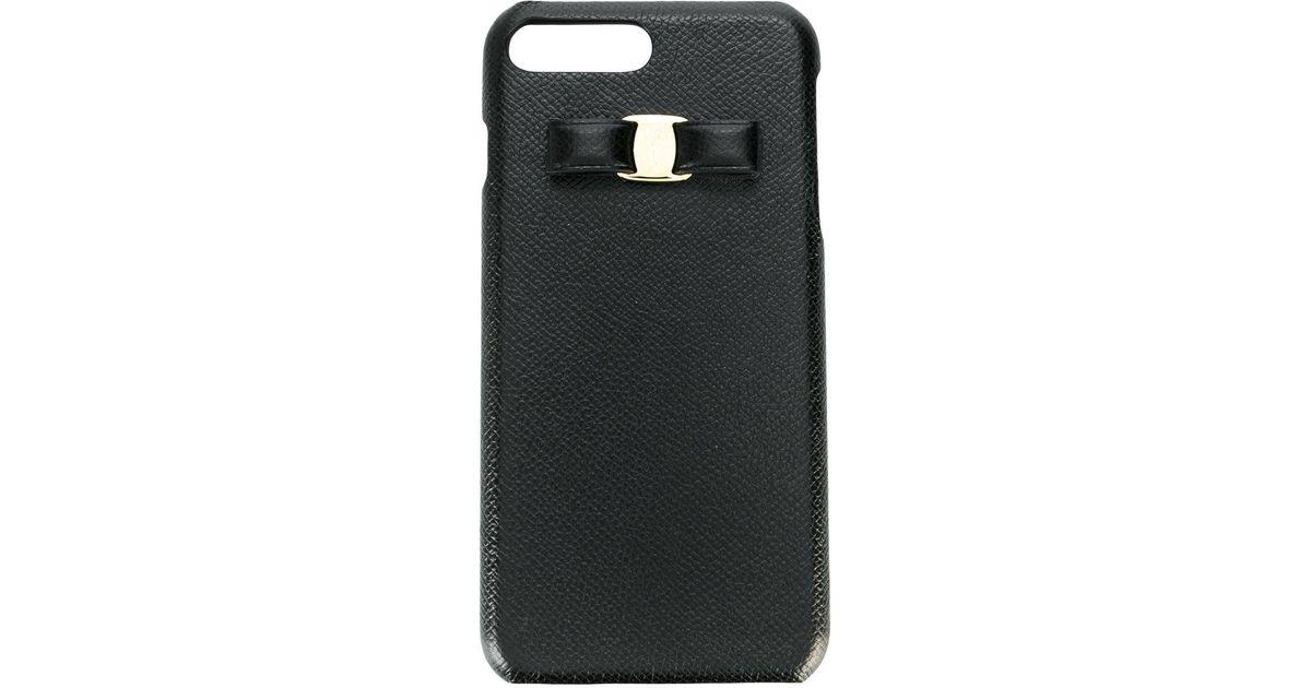 newest c595f de079 Ferragamo Black Vara Iphone 8 Plus Case