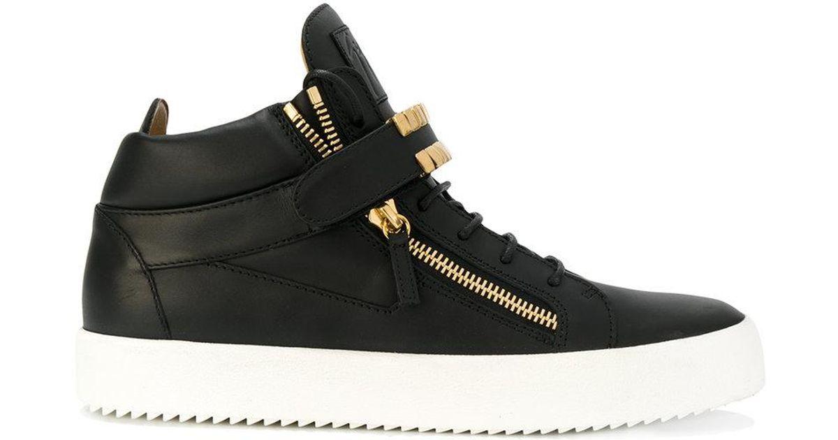 Herren Sneaker Buscemi Sneakers mit goldfarbenen Details