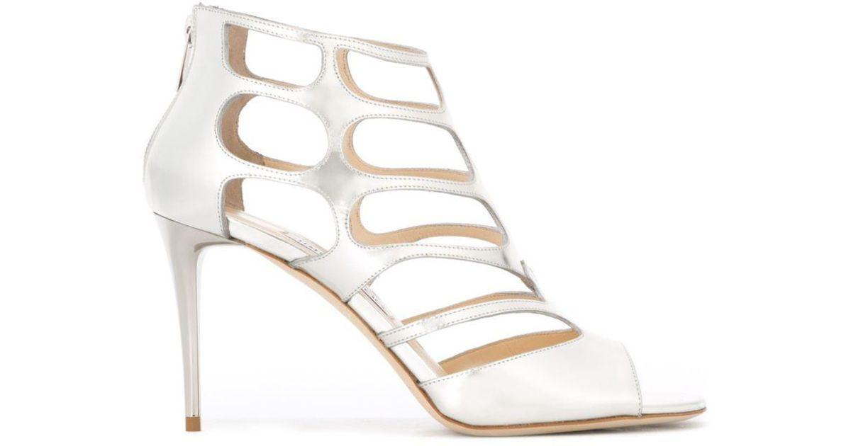 b397207c808 Lyst - Jimmy Choo  ren 85  Sandals in Metallic