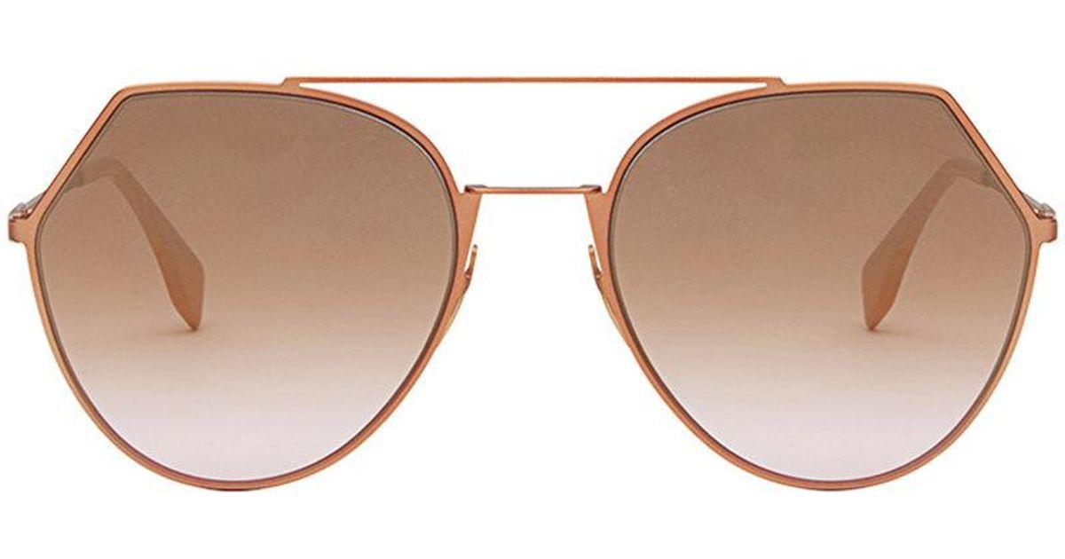 590561d7245fe Lyst - Fendi Eyeline Sunglasses