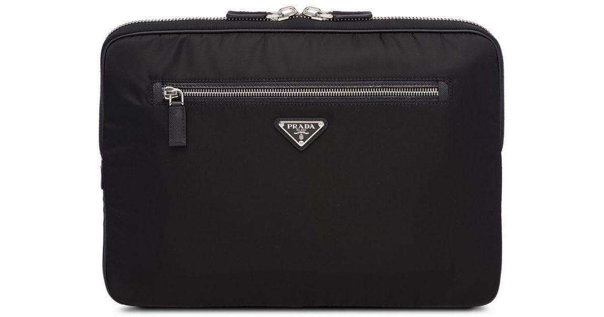 2dd570242e5e Lyst - Prada Saffiano Laptop Case in Black for Men