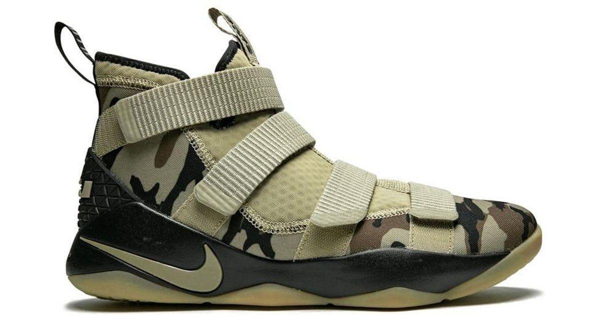 online retailer d79d2 df6c0 Nike - Green Lebron Soldier 11 Sneakers for Men - Lyst