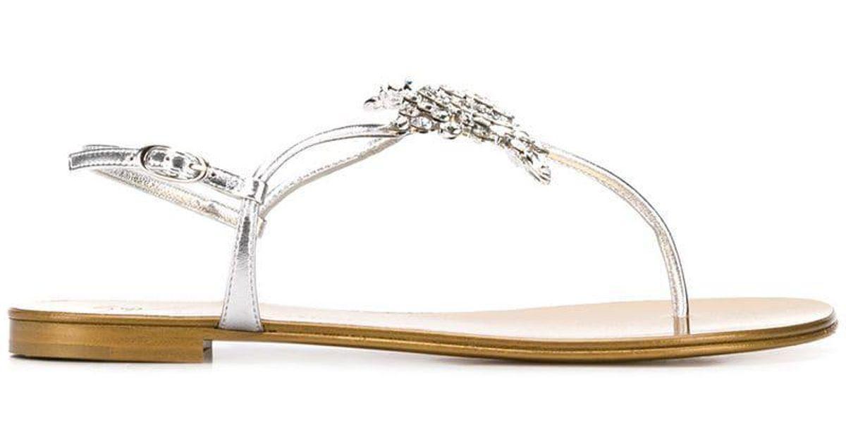 6a20aadca95d4 Giuseppe Zanotti Butterfly Sandals in Metallic - Lyst
