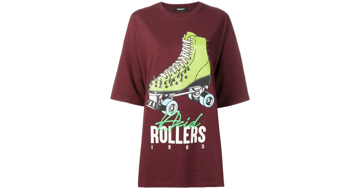 Lyst - Undercover Roller Skate Print T-shirt in Red efe16480178
