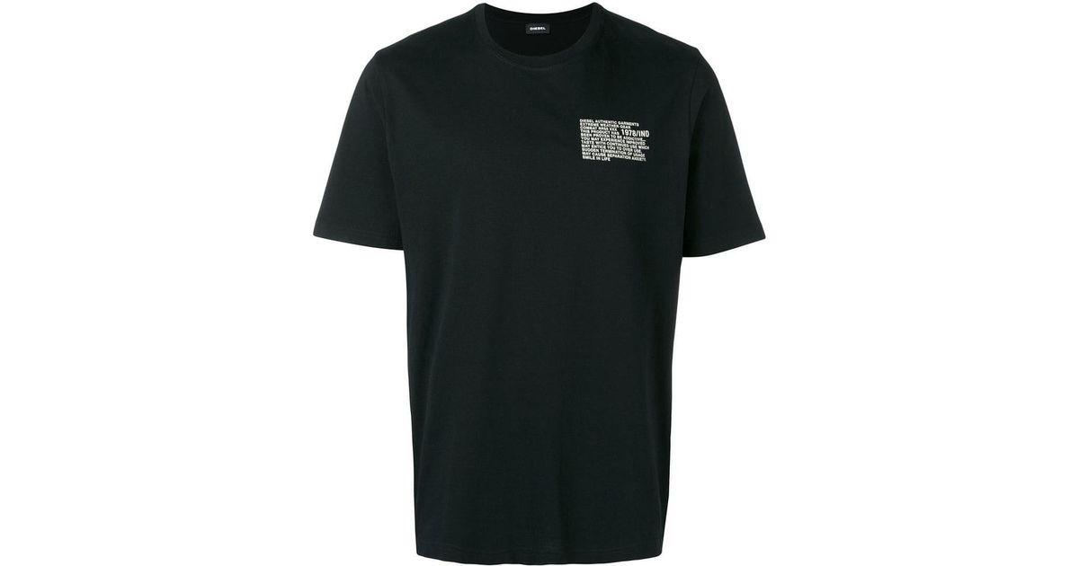 c88e58b8 DIESEL T-just-y1 T-shirt in Black for Men - Lyst