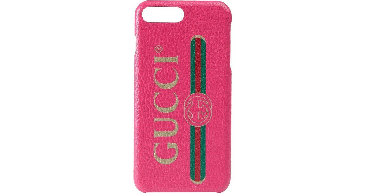 5f36901176a Funda para iPhone 8 Plus con Print Gucci de color Rosa - Lyst