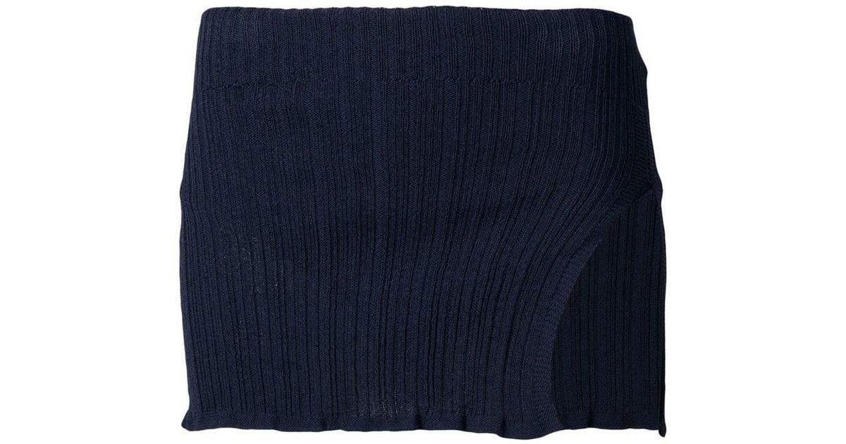 df84f9ddb Jacquemus Knitted Mini Skirt in Blue - Lyst