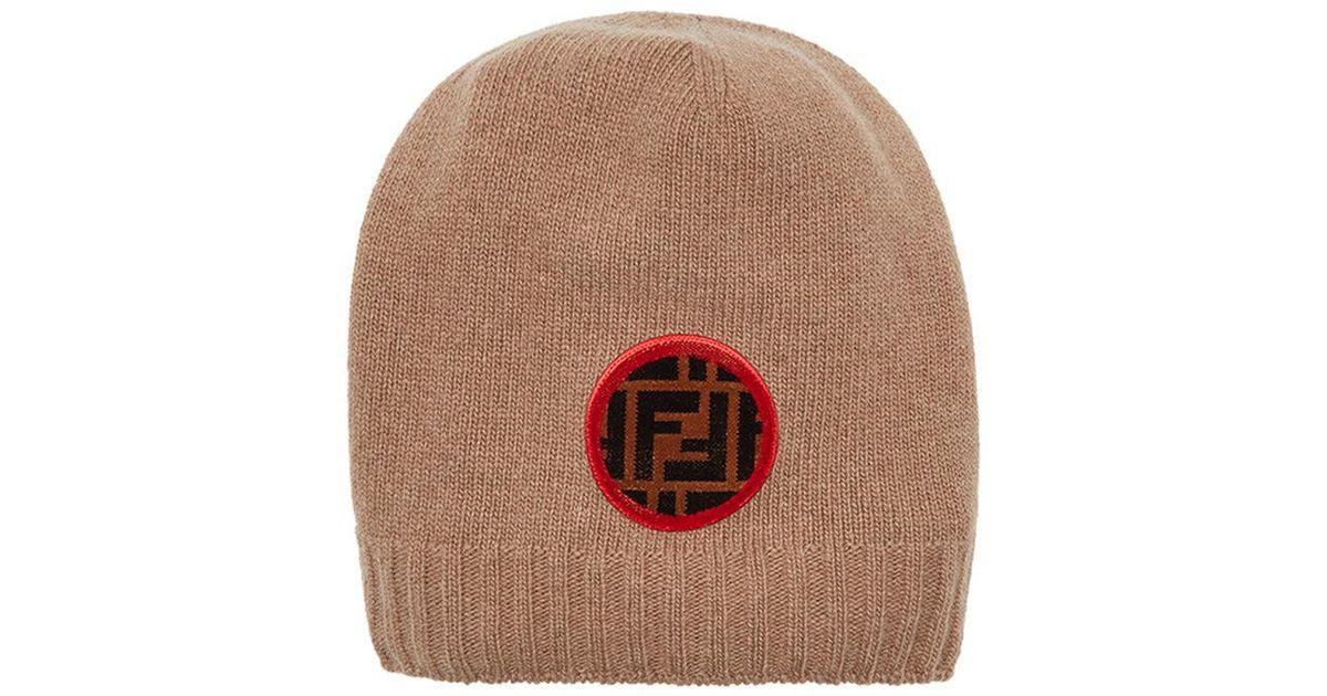 Ff Parche Con El Logo Beanie - Desnuda Y Neutrales Fendi wMuINjJIkS