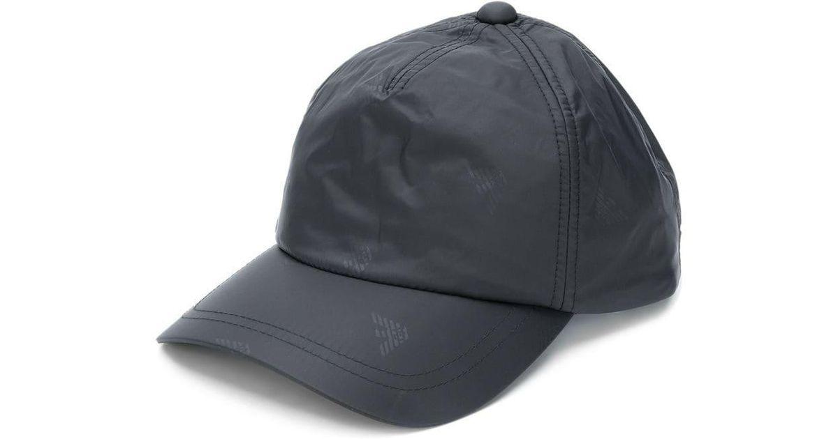 f93c1b098a0 Emporio Armani Panelled Logo Cap in Black for Men - Lyst