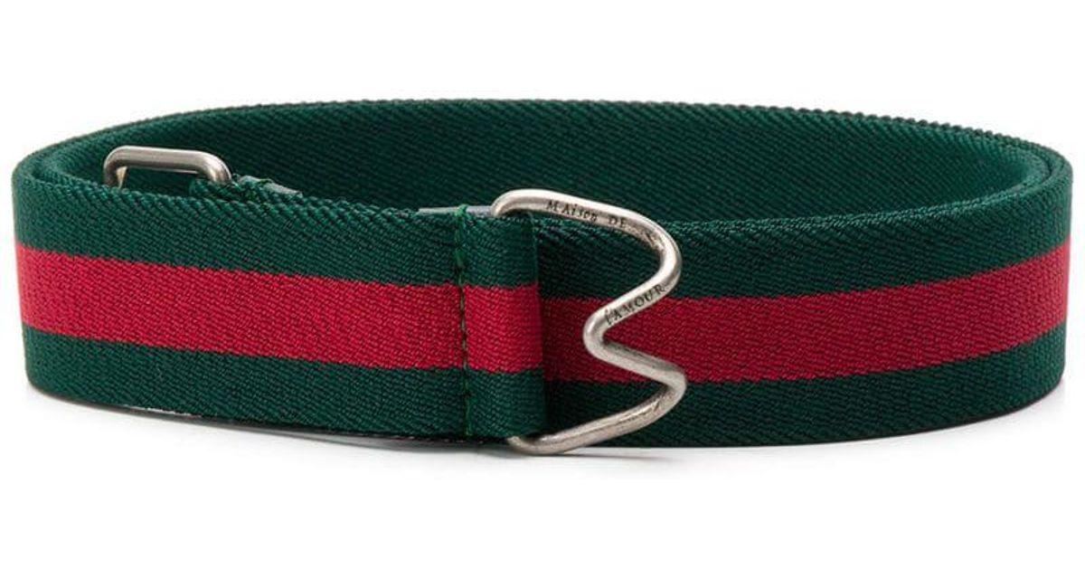 1ab4cdb314d Gucci Web Striped Belt in Green for Men - Lyst