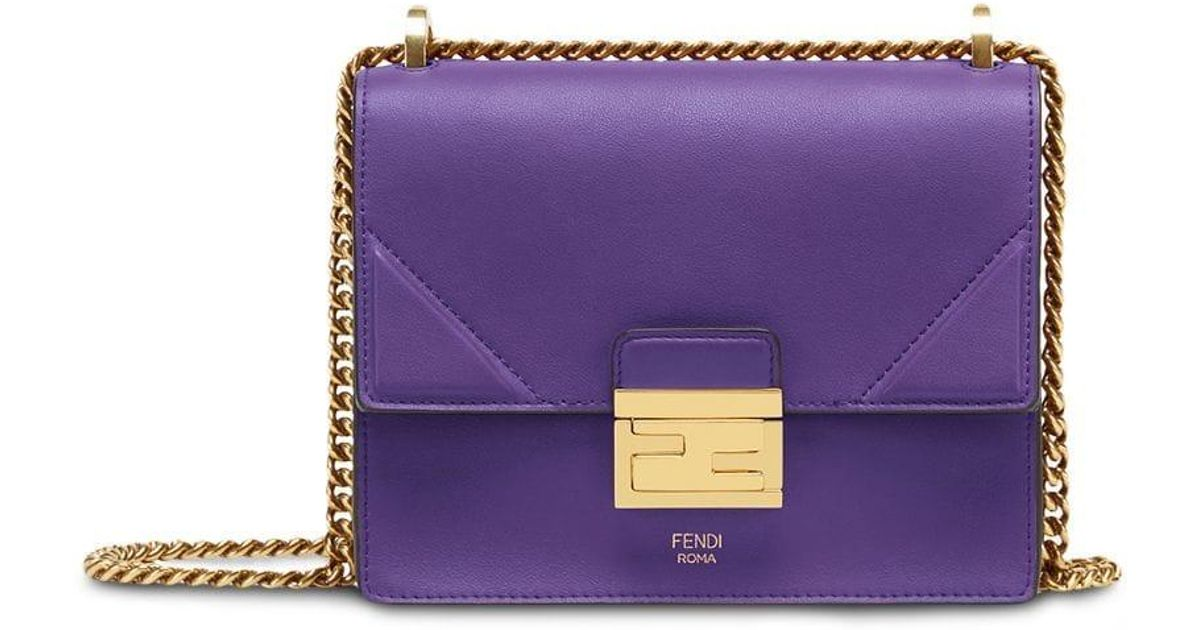 f4ae9ea9c5c Fendi Small Kan U Shoulder Bag in Purple - Lyst