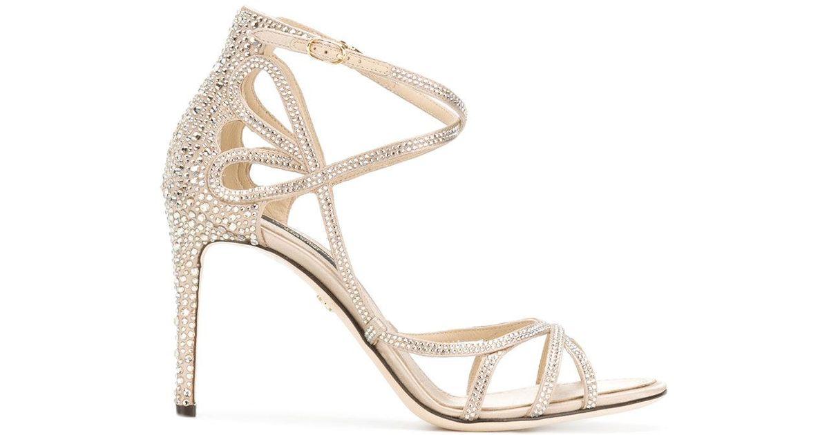 Dolce & Gabbana Sandales Ornées De Strass Keira - Métalliques G9x9KgnVZ