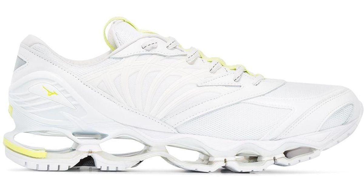 tenis mizuno wave prophecy 6 white jeans el corte