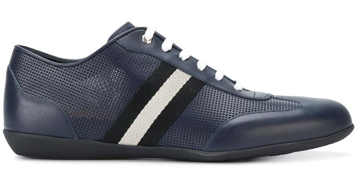 Bally Leather Harlam Sneakers in Blue