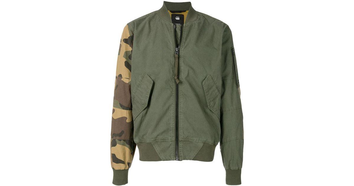 fe5572f65c0 G-Star RAW Combat Rackam Spm Bomber Jacket in Green for Men - Lyst