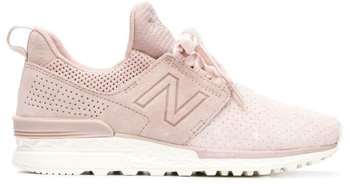 newest cd209 f5437 New Balance Pink 574 Sport Decon Sneakers