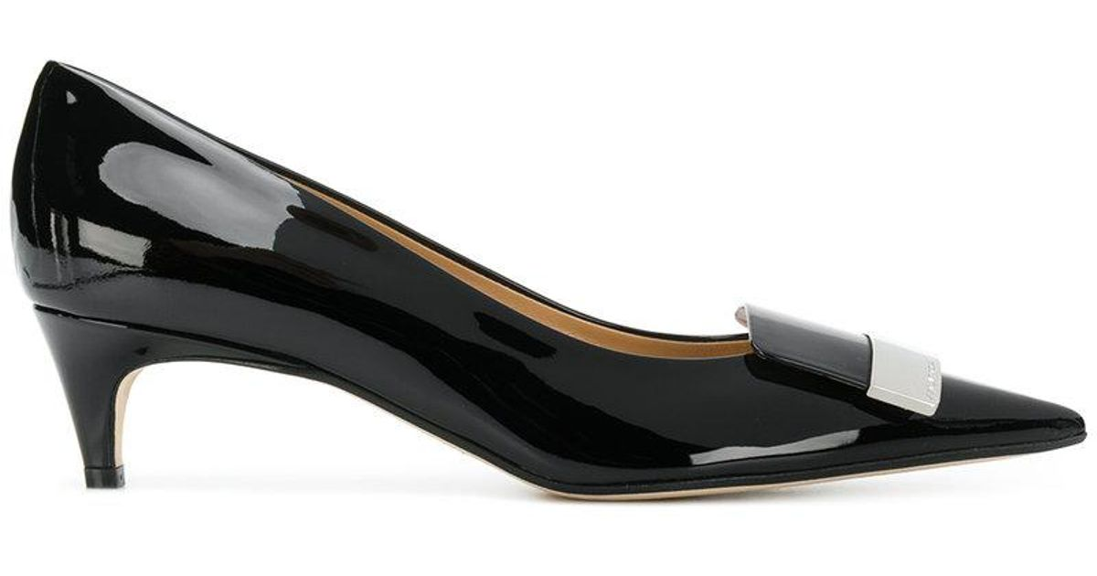 pointed varnished pumps - Black Sergio Rossi FuUq9